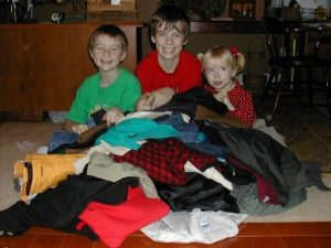 In 2010, 5yearold Katie with brothers Jonathan, 12 and Justin, 9.