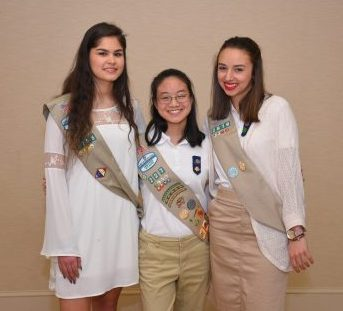 Gold Award cherokee girl scouts around woodstock